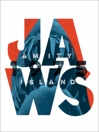 Premiumposter  Jaws typography