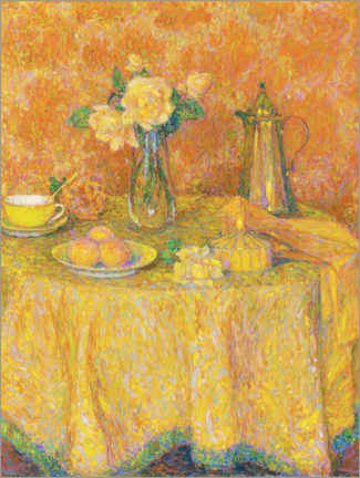 Premiumposter  The yellow harmony table - Henri Le Sidaner
