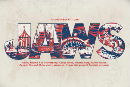 Premiumposter  Jaws - Perfect feeding ground