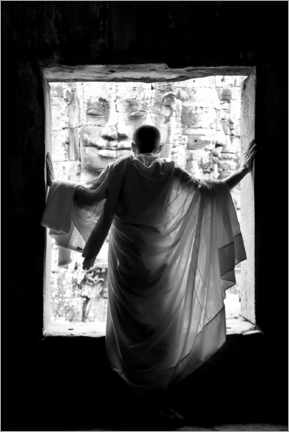Premiumposter Monk at the window