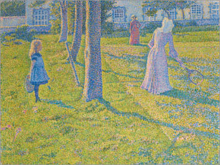 Premiumposter  In Thuin, the tennis game - Theo van Rysselberghe