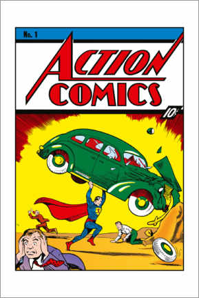 Canvastavla  Superman Action Comics No.1