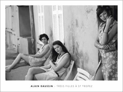 Aluminiumtavla  Three girls in Saint Tropez - Alain Daussin