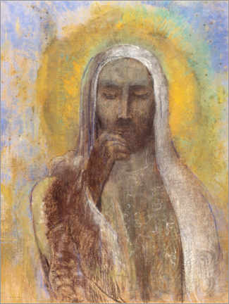 Canvastavla  Christ In Silence - Odilon Redon
