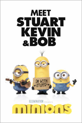 Canvastavla  Minions - I'm with stupid