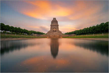 Akrylglastavla  Monument to the Battle of the Nations at sunset - Andreas Vitting