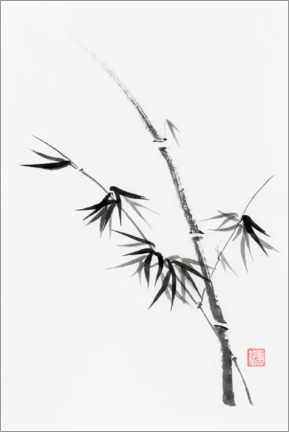Premiumposter  Bamboo stem with leaves - Oleksiy Maksymenko
