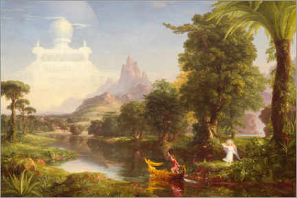 Akrylglastavla  The journey of life, the youth - Thomas Cole