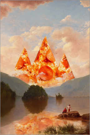 Premiumposter  Pizza mountains - Jonas Loose