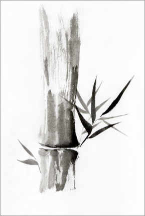 Premiumposter  Bamboo stem with leaves