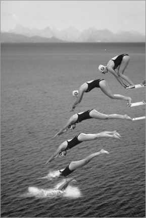 Premiumposter  The beauty of diving - Greetje Van Son