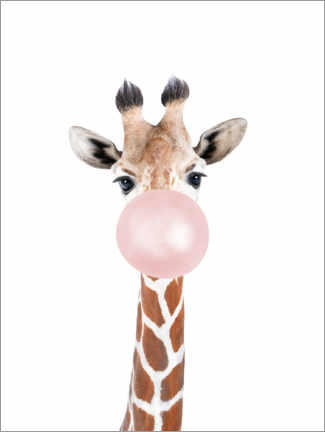 Canvastavla  Bubble gum Giraffe - Sisi And Seb