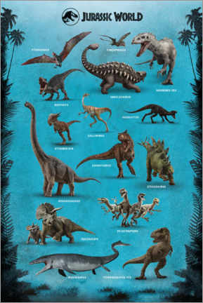 Premiumposter  Jurassic World - Dinosaurs