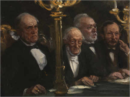 Trätavla  Portrait group - Peder Severin Krøyer