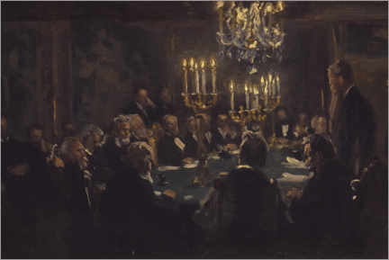 Självhäftande poster  A meeting in the society of science - Peder Severin Krøyer