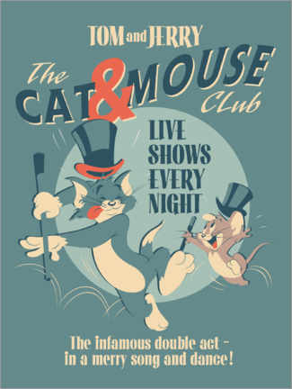 Trätavla  Tom and Jerry - Cat and Mouse Club