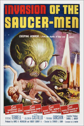Canvastavla  Invasion of the Saucer men - Entertainment Collection