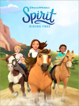 Trätavla  Spirit Riding Free