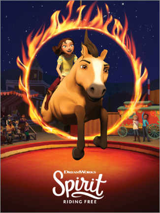Canvastavla  Spirit Riding Free - Arena
