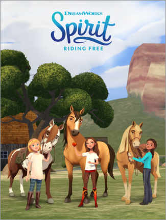 Premiumposter Spirit Riding Free - Trio