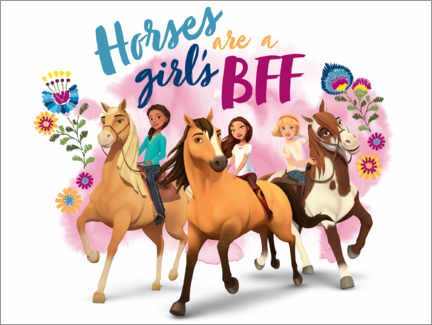Premiumposter  Horses are a girl's BFF