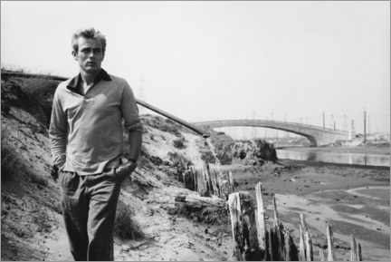 Aluminiumtavla  James Dean - Sanford Roth