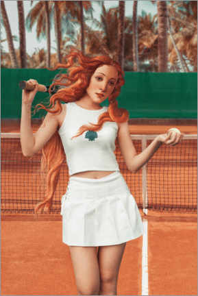 Premiumposter  Venus plays tennis - Jonas Loose