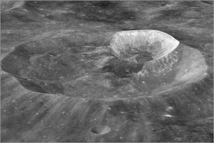 Canvastavla  Joule-T and Wargo craters of the moon - NASA