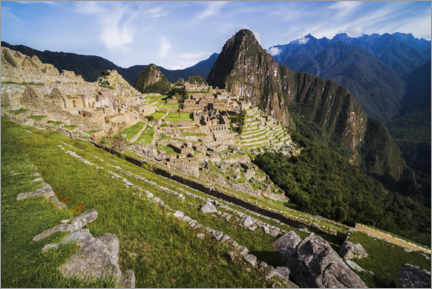 Premiumposter  Inca Ruins of Machu Picchu in the Andes Mountains of Peru - Matthew Williams-Ellis