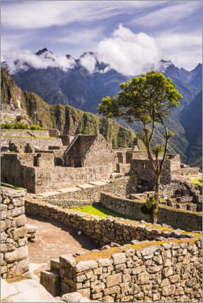 Premiumposter  Machu Picchu in the Andes Mountains of Peru - Matthew Williams-Ellis