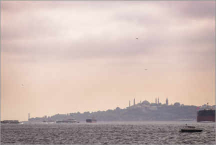 Premiumposter Istanbul Cityscape at Sunset in Turkey