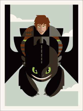 Premiumposter How to Train Your Dragon - Minimal Design