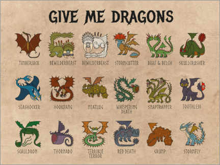 Premiumposter  Give me dragons