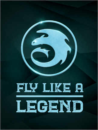 Premiumposter  Fly like a legend