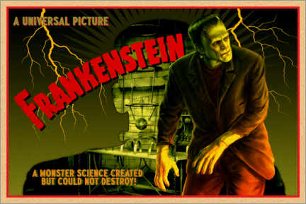 PVC-tavla  Frankenstein - Science created monster