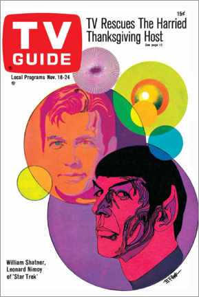 Akrylglastavla  Star Trek - Retro Cover 1967 - TV Guide