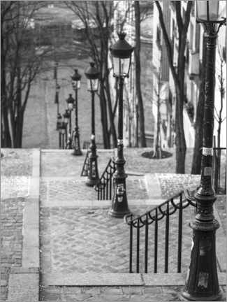 Canvastavla  Paris, Montmartre - Assaf Frank