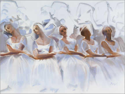 Premiumposter Study of the dancers