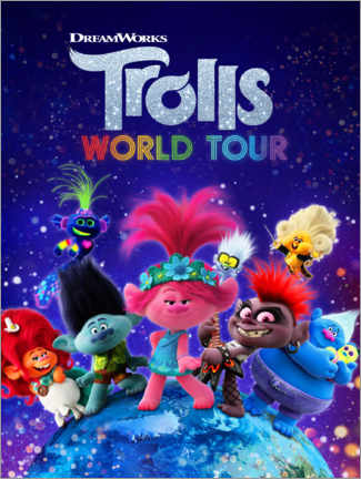Trätavla  Trolls World Tour