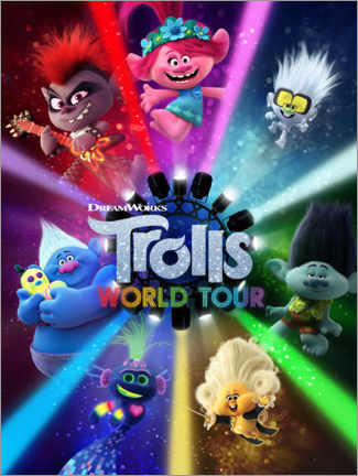 Trätavla  Trolls World Tour - Lights on!