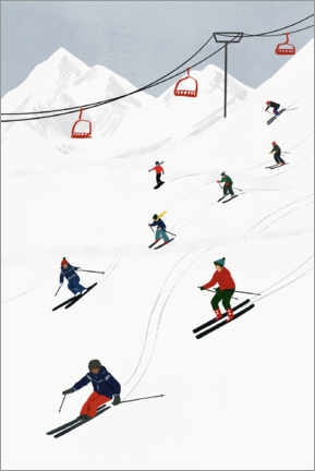 Premiumposter  On the ski slope - Victoria Borges