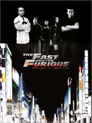 Akrylglastavla  The Fast and the Furious - Tokyo drift
