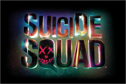 Galleritryck  Suicide Squad - Neon sign