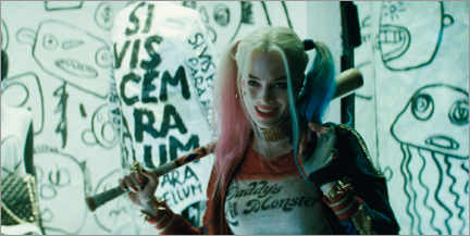 Galleritryck  Harley Quinn - Good Night baseball bat