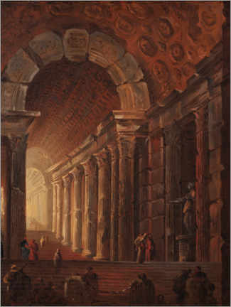 Akrylglastavla  An arched staircase, a piece of architecture - Johan Gottlob Brusell