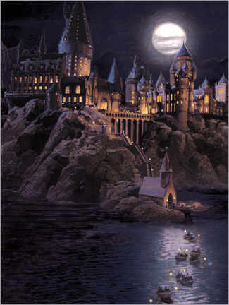 Canvastavla  Harry Potter - Boats to Hogwarts