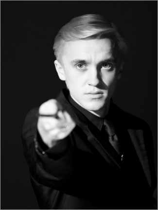 Premiumposter  The Half-Blood Prince - Draco Malfoy wand portrait