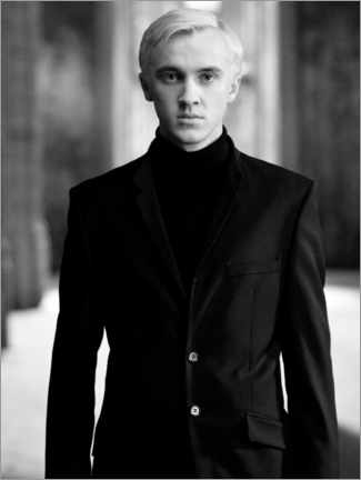 Canvastavla  The Half-Blood Prince - Draco Malfoy bw portrait