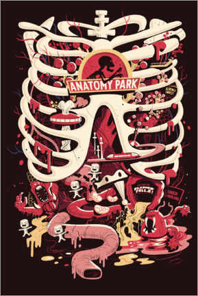 Premiumposter  Rick and Morty - Anatomy Park