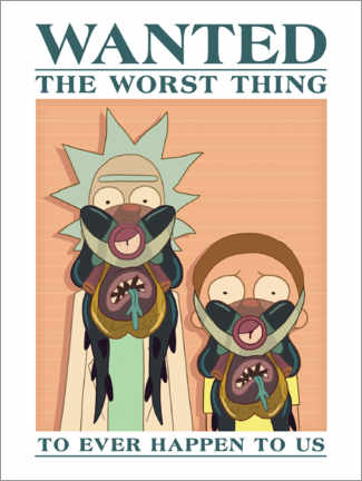 Premiumposter  Rick and Morty - The worst thing